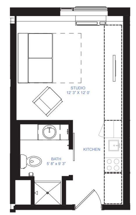 Studio apartment minneapolis mn for Photography studio floor plans