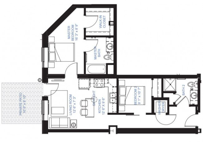 Two Bedroom A-1A