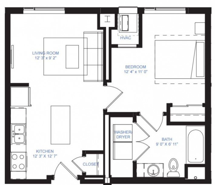 One Bedroom A-8B